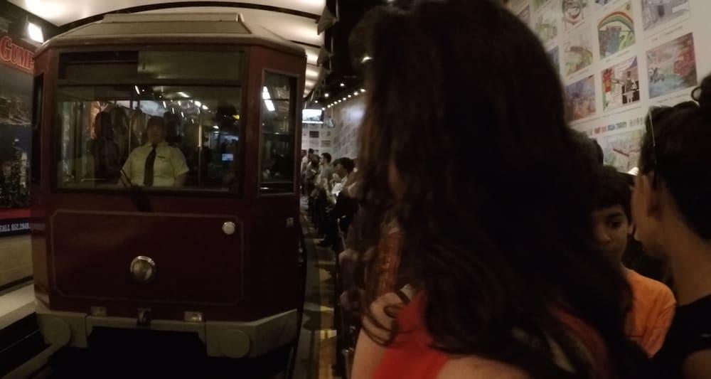 Peak Tram Arrives