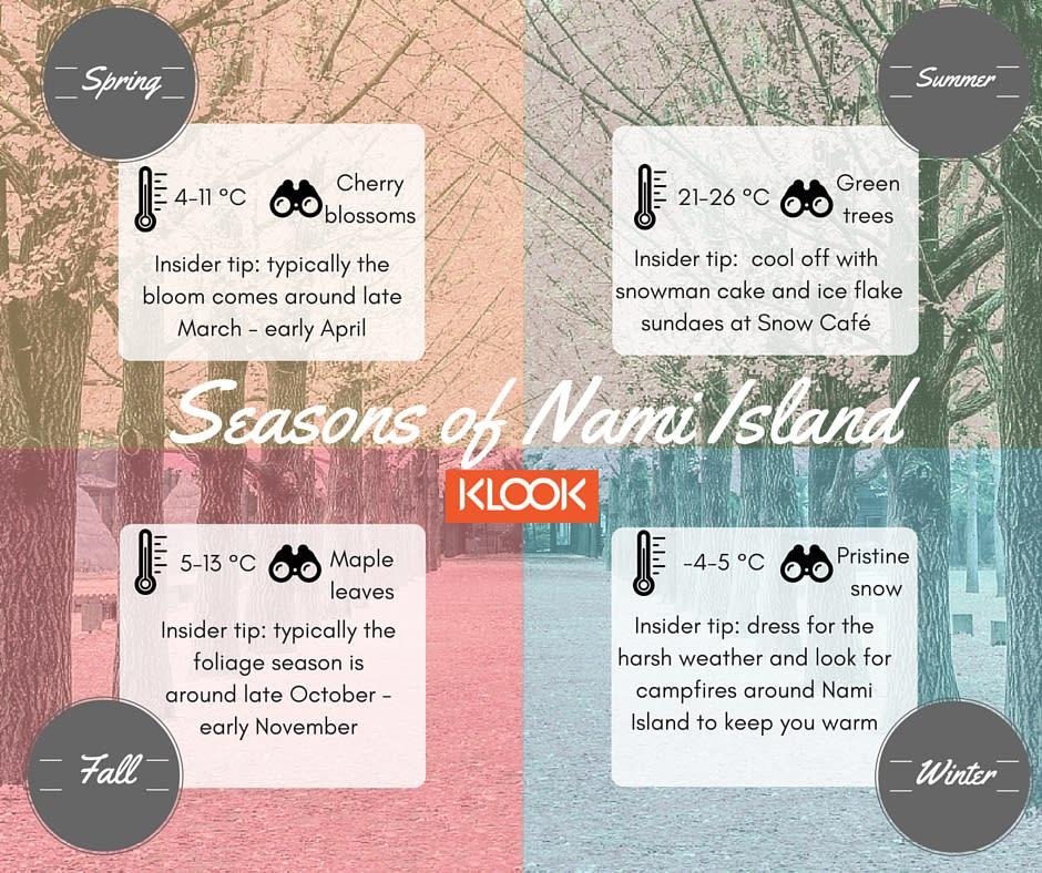 Nami Island Seasons