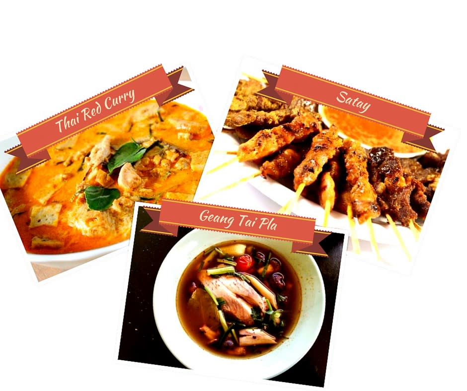 southern thai cuisine, thai red curry, thai cuisine, thai food, thai satay