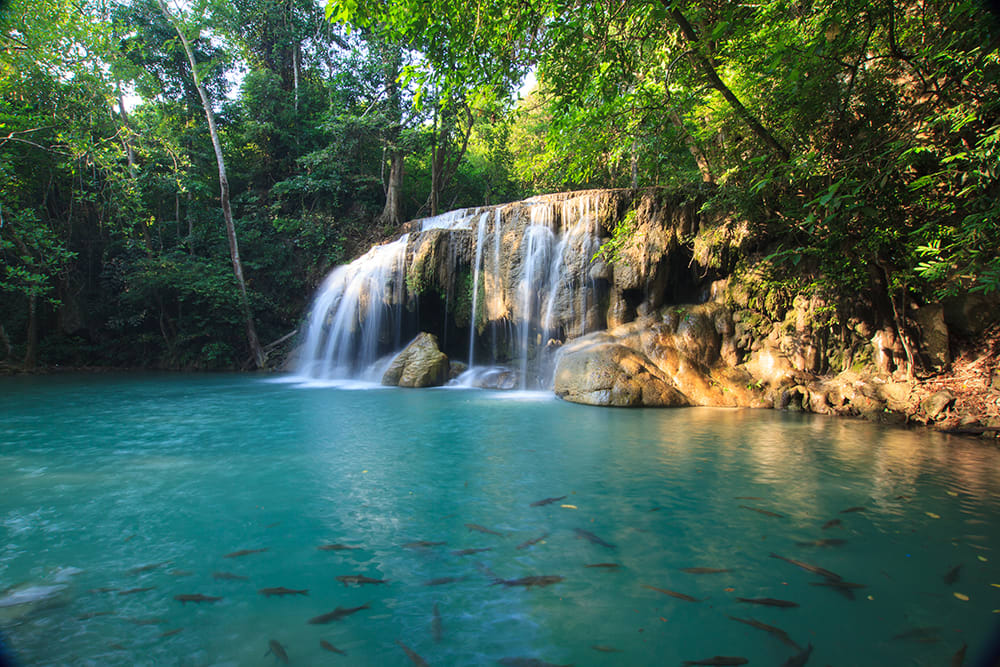 Thailand - Erawan Waterfalls copy