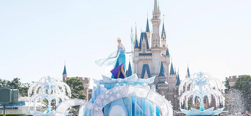 elsa on her ice castle