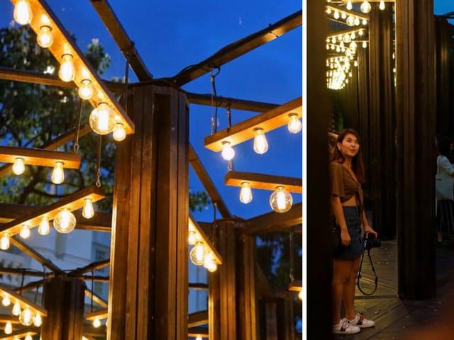 House of mirrors light to night singapore