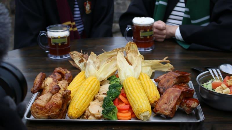 Food platter at The Three Broomsticks