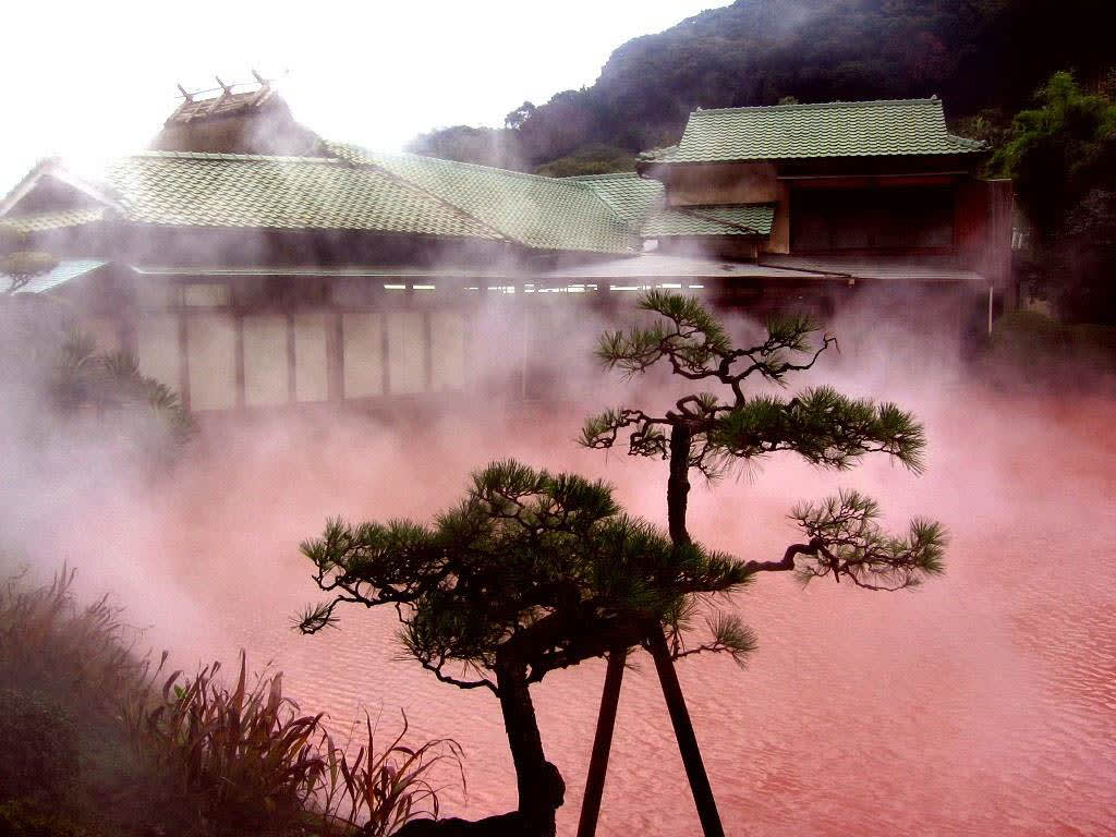 Hells of Beppu- Bloody Hell Pond