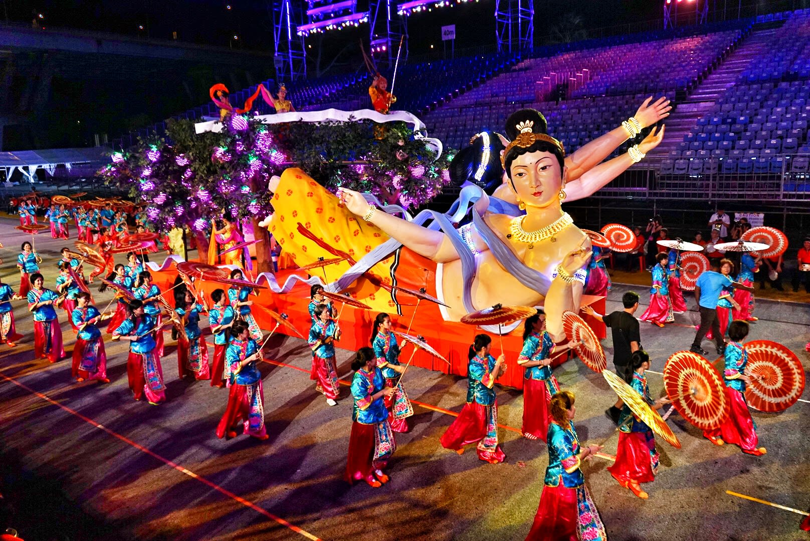 Float ceremony at the Chingay Parade 2015