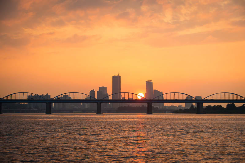 Sunset view of Han River