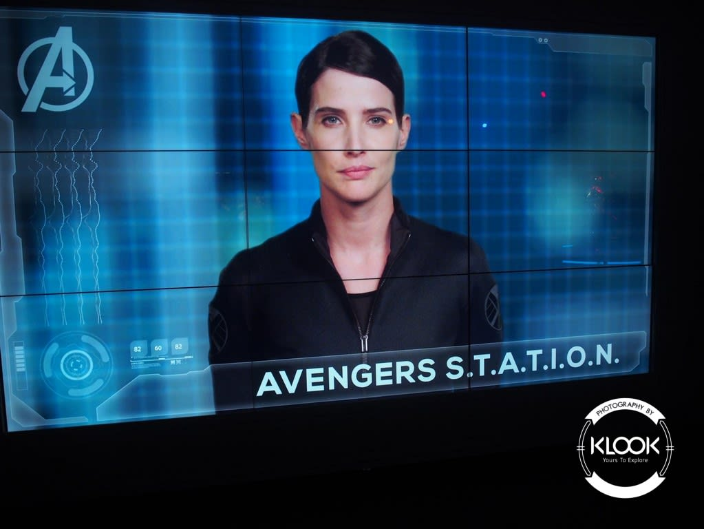 Picture of Maria Hill on screen at the exhibition