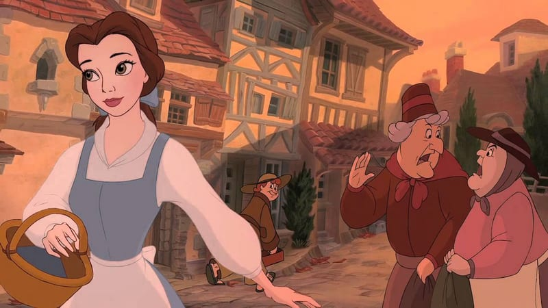 Belle in marketplace