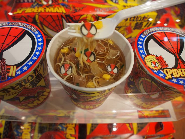 Spiderman Ramen at Universal Studios Japan