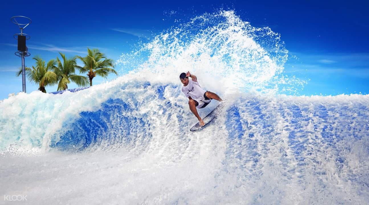 riding waves at wave house sentosa