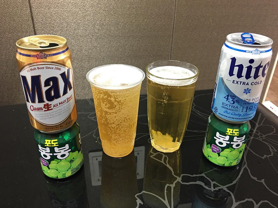 Korean beer and Bong Bong
