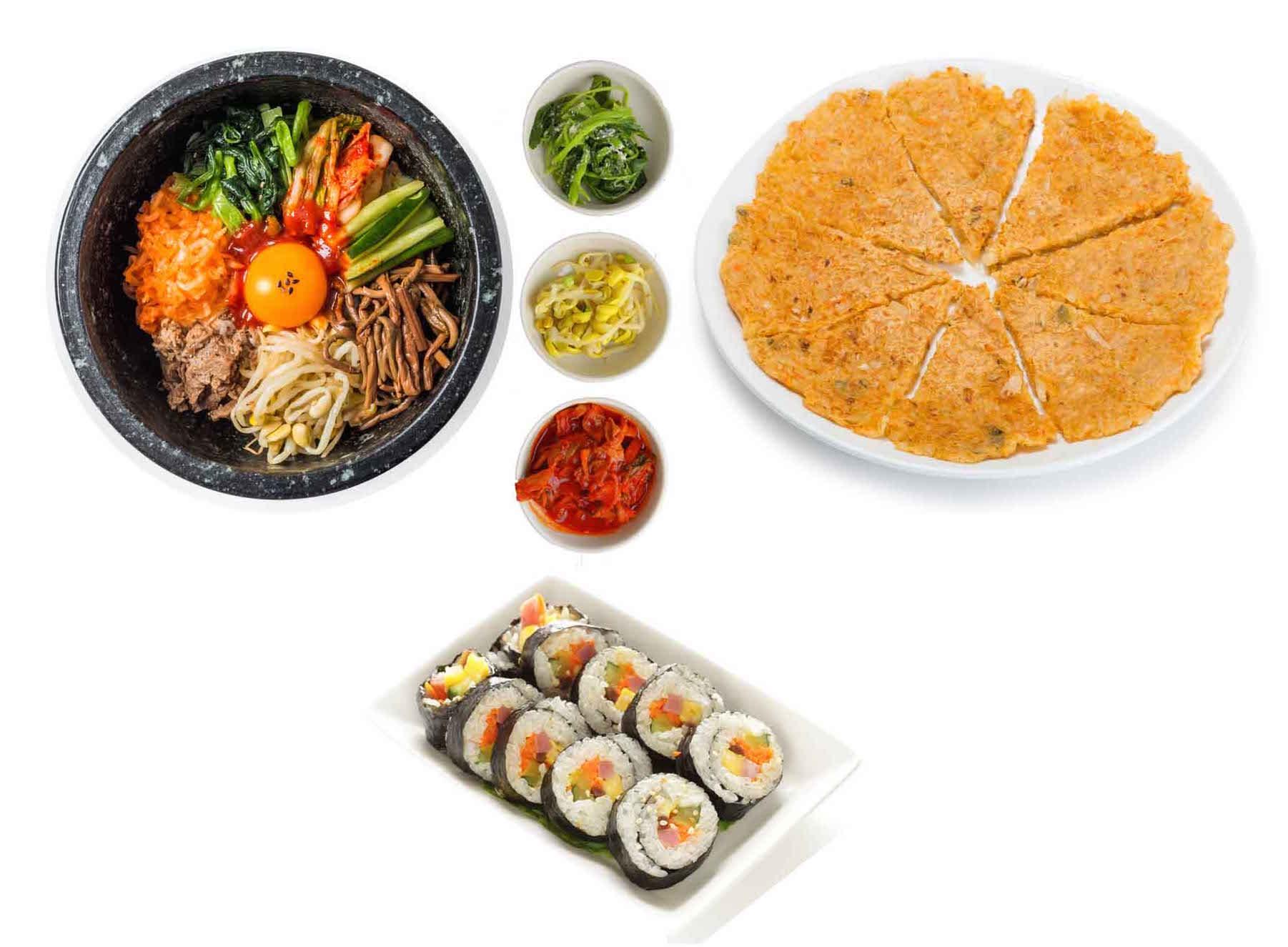 korean food kimchi bibimbap