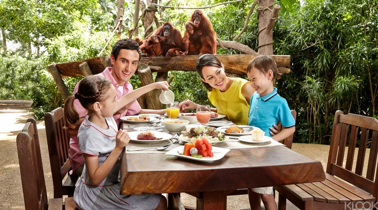 Singapore Zoo breakfast