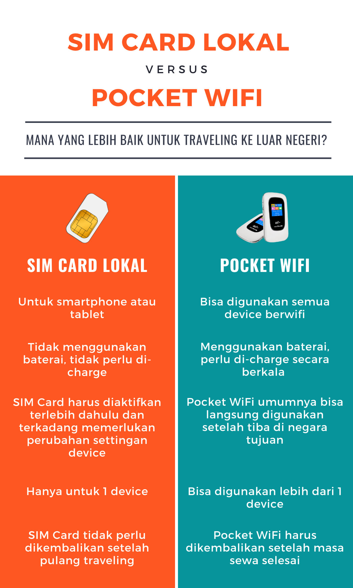 SIM Card vs Pocket WiFi Infographic