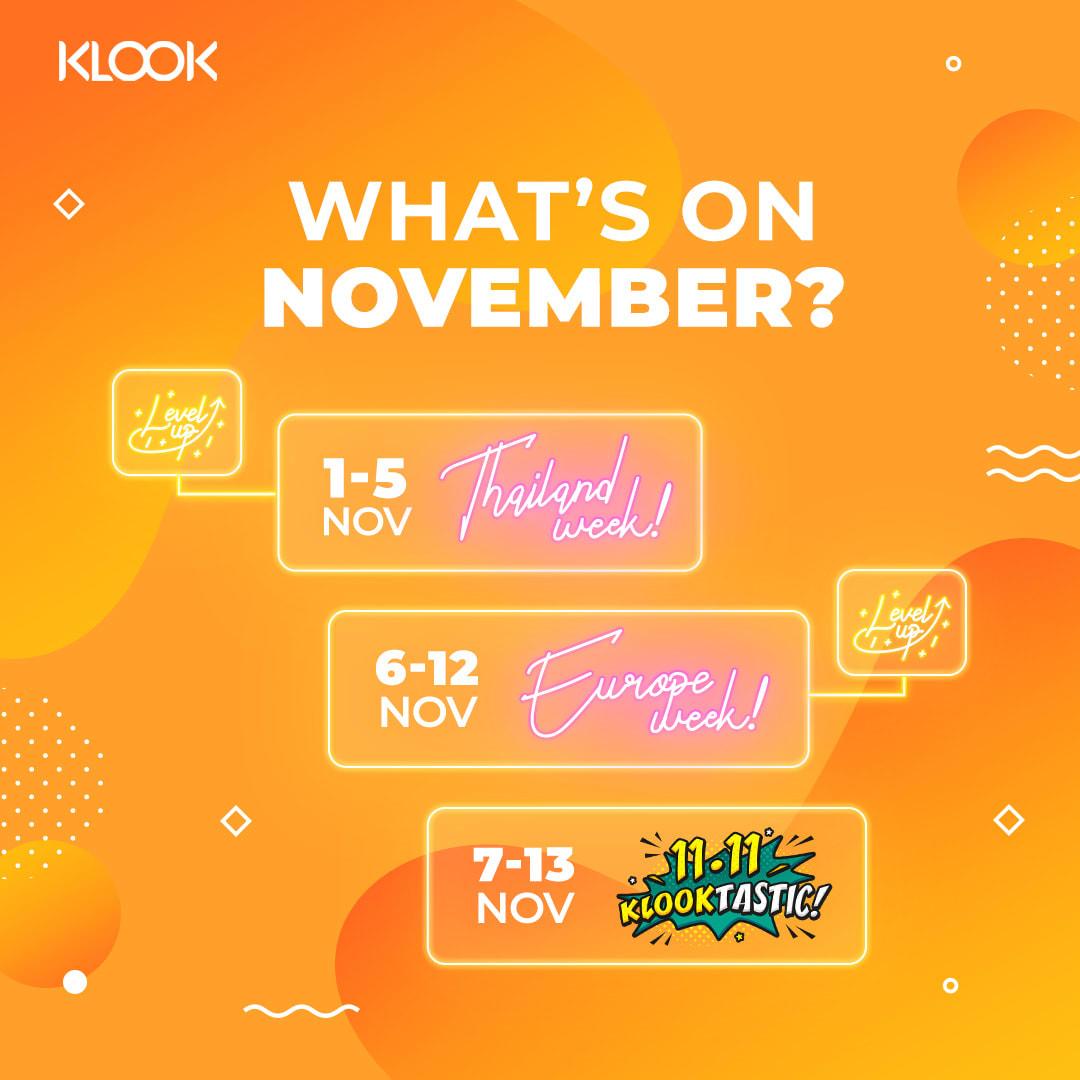 Promo Klook November 2019