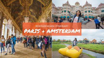 Itinerary Paris - Amsterdam