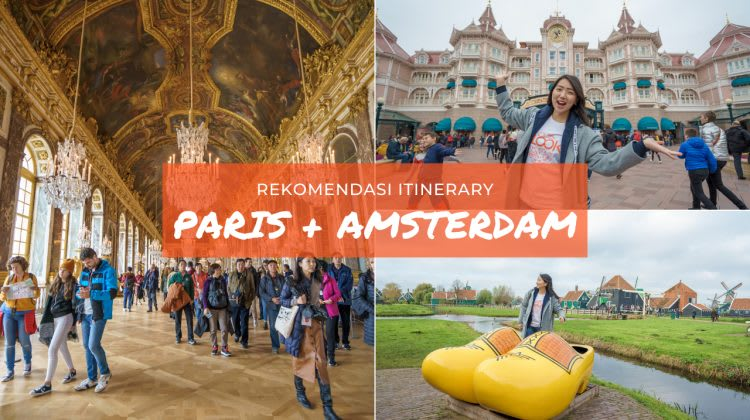 Itinerary Paris - Amsterdam