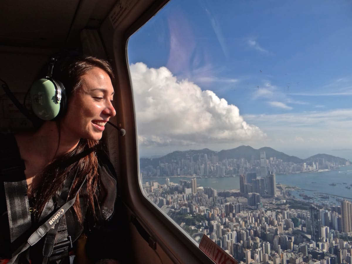 Sarah Richard Hong Kong Helicopter