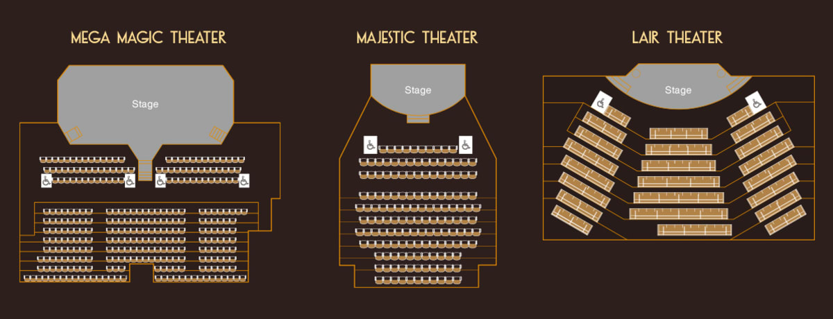 shows and performances in macau, house of magic macau show seats, how of magic macau seating arrangment