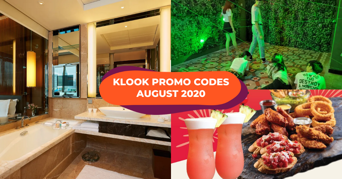 Klook Promos August 2020 : 1-For-1 Escape Room, 50% Off Food Deals & 15% Off Staycations