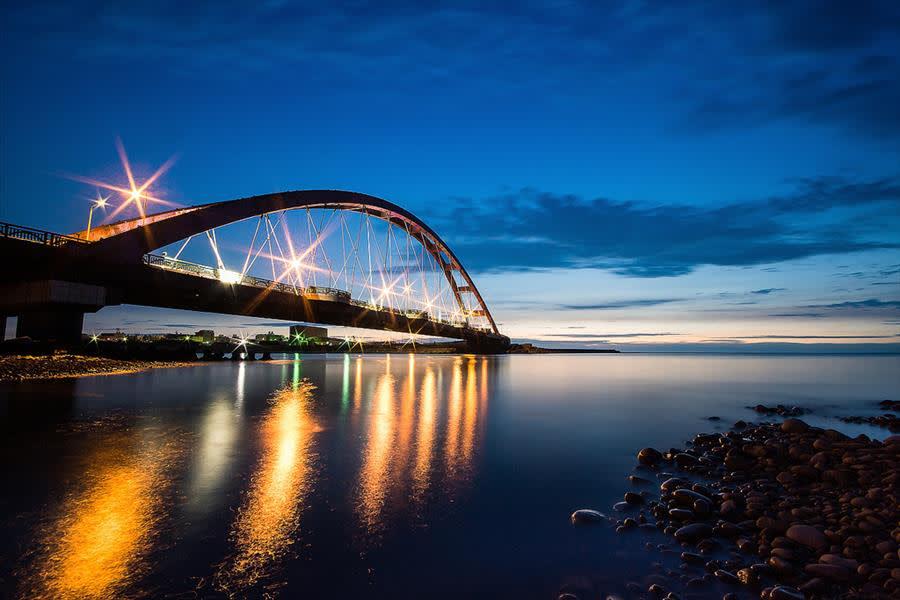 竹 圍 漁 港 新 地 標 ( 圖 片 來 源 :竹 圍 漁 港 官 網 )