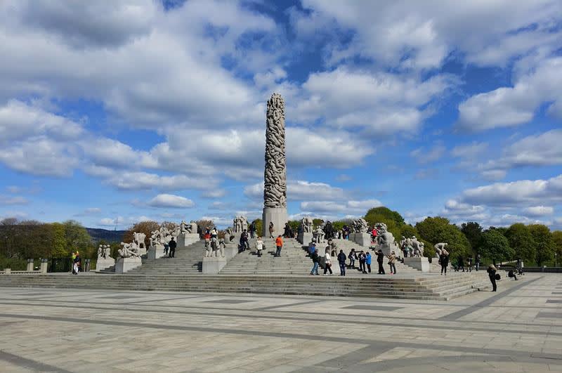 維格蘭雕塑公園Vigelansparken(照片來源:Pixabay)