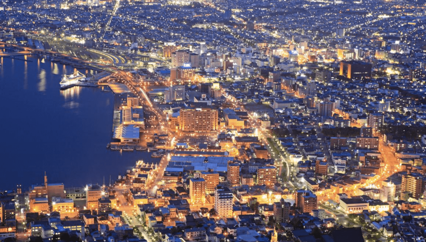 日 本 三 大 夜 景( 圖 片 來 源 : goo.gl/T4oZfC )