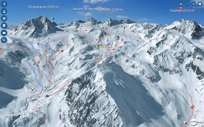 Innsbruck—Pists & Lifts by Stubaier Gletscher