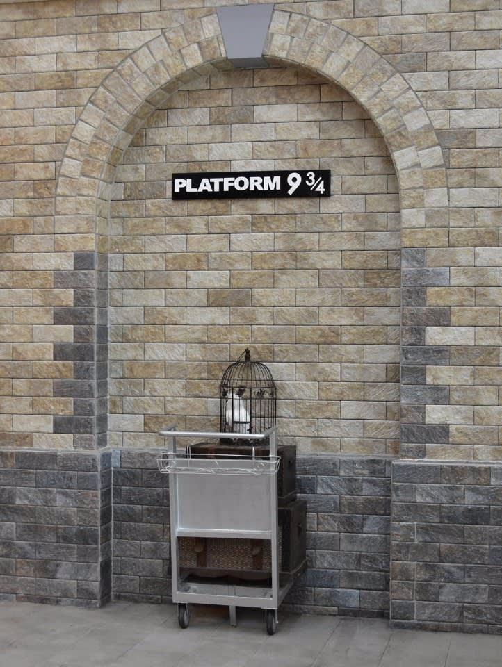 超吸睛的《哈利波特》9又4分之3月台牆面。(圖片來源/南投縣政府)