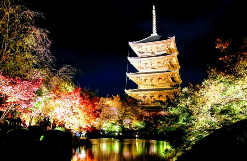 東寺歷史悠久的五重塔。來源:https://ameblo.jp/sakurazaka128/entry-12329519513.html