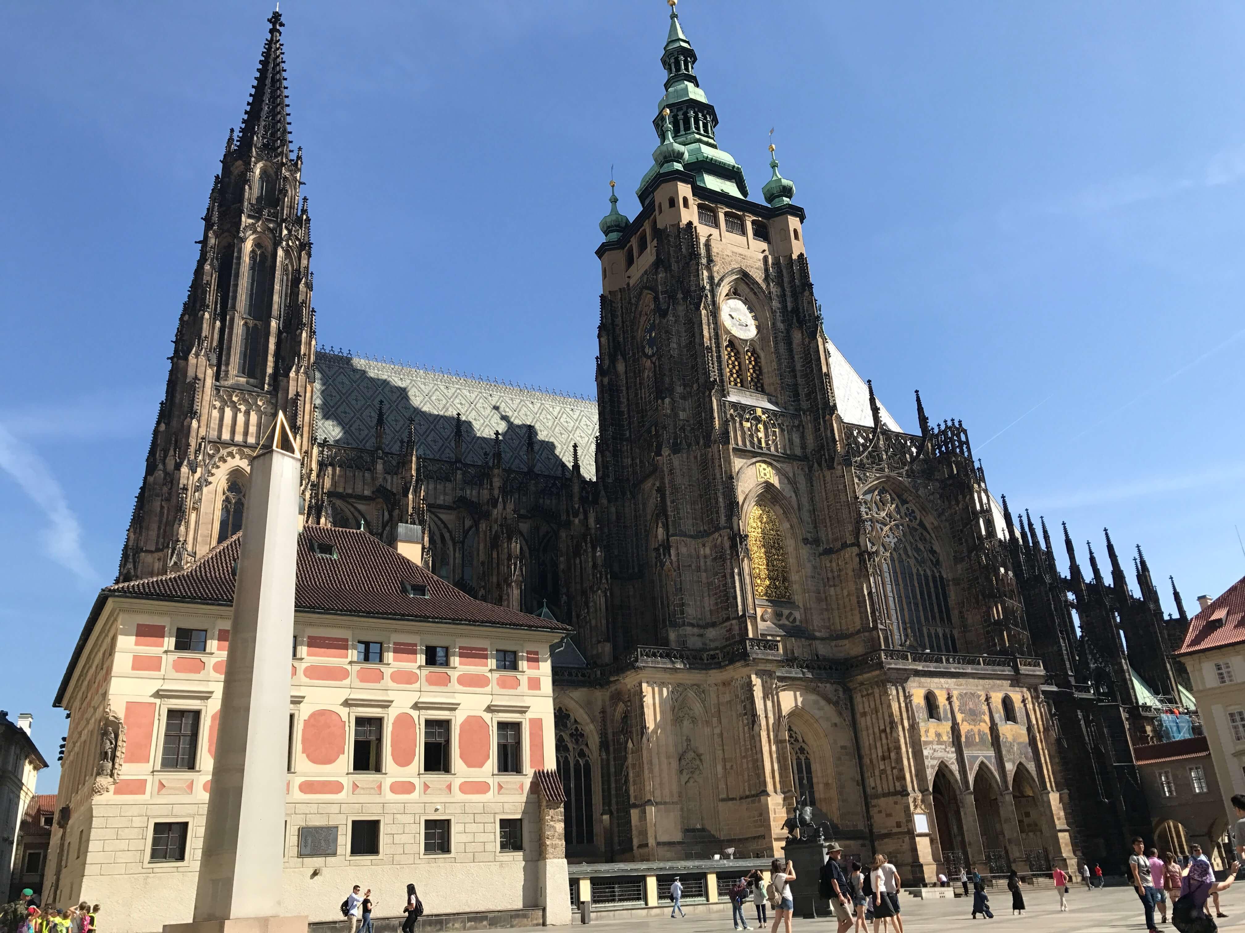 聖維特教堂高聳的尖塔成為布拉格的地標。Photographer / Penny