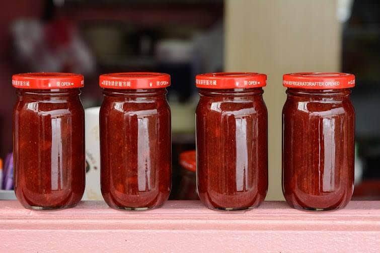 天然的DIY草莓果醬!圖片來源:FB@neihustrawberry