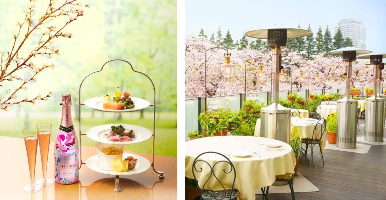 左:CHANDON香檳限定口味Shandon Rose/右:Shandon Blossom Lounge(來源:FASHION PRESS)