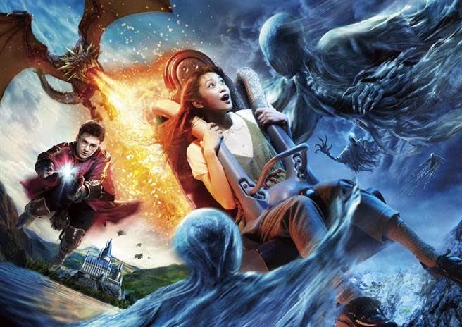 「哈利波特禁忌之旅完整版」,遊客將可搭乘遊樂設施奔馳於虛擬世界中。