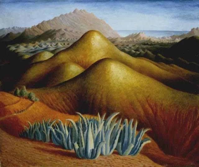 朵 拉 · 卡 靈 頓 ,《 有 山 的 西 班 牙 風 景 》 (1924)圖片:Courtesy of Tate.