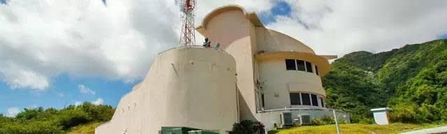 蒙 特 塞 拉 特 火 山 觀 測 站 。