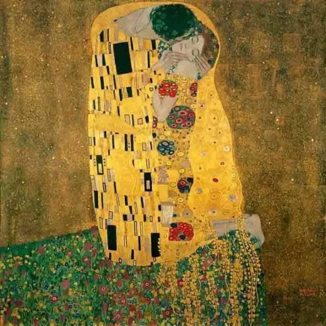 克 里 姆 特 , 吻  1907。
