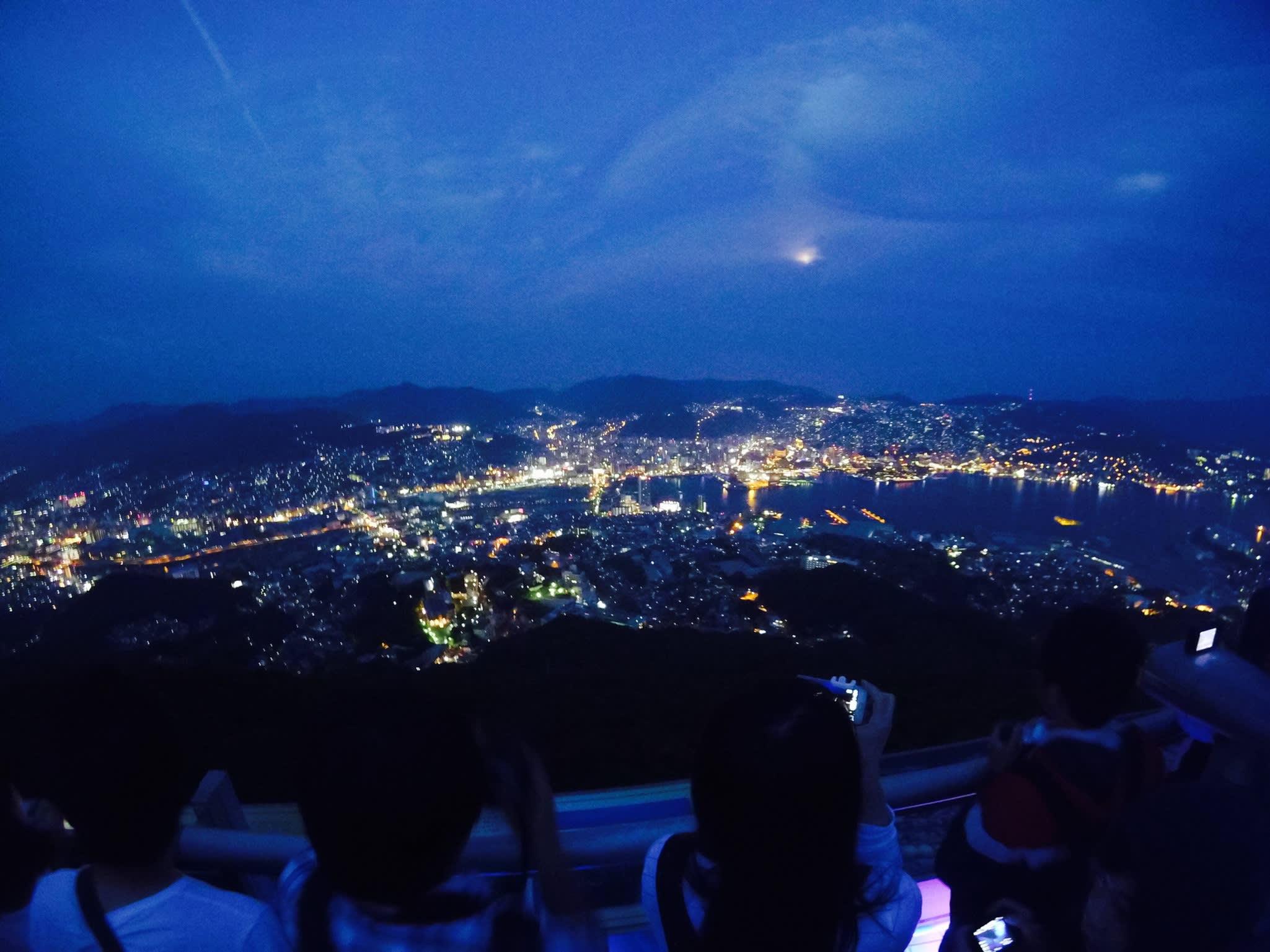 落日後的稻佐山