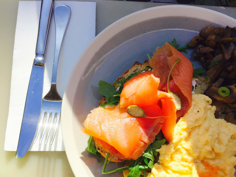 雪梨早午餐推薦 : 燻鮭魚早午餐 @ Uliveto