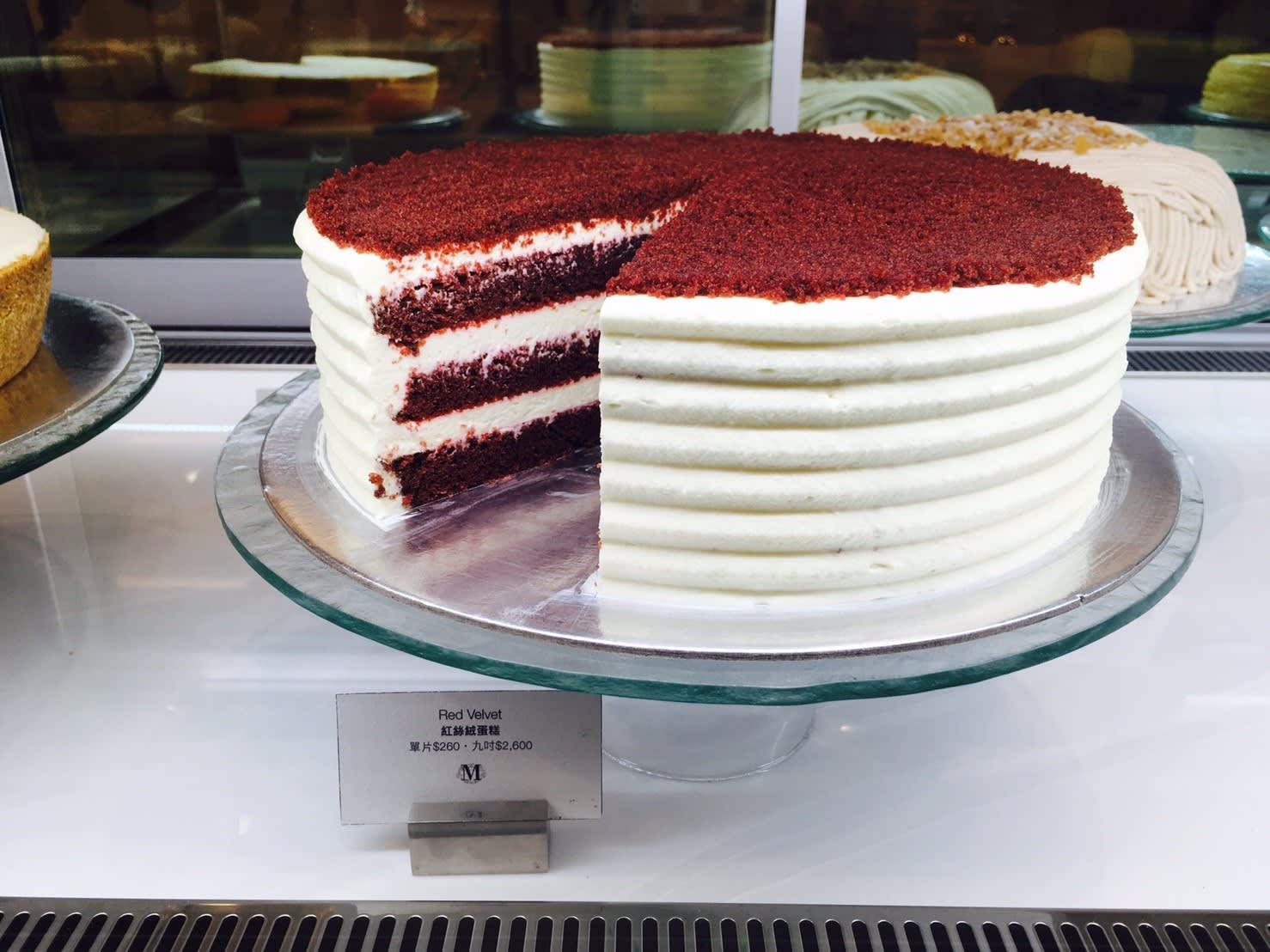 紅絲絨蛋糕 單片NT$260 九吋NT$2600