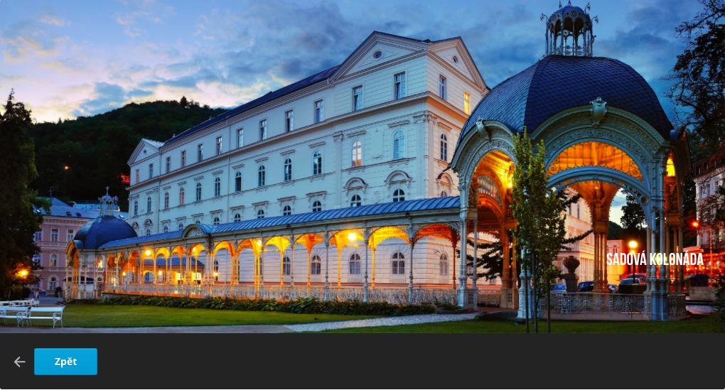 SADOVÁ KOLONÁDA (照片來源:Karlovy Vary官網 https://goo.gl/UVfMj5)