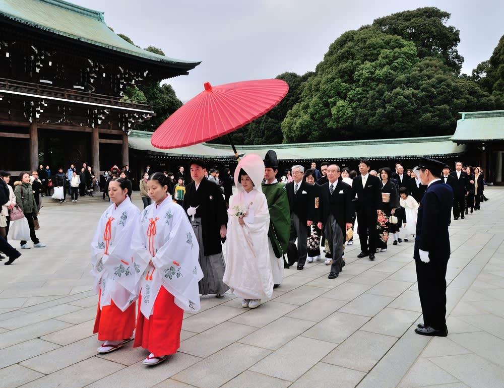 日本的神前結婚式。(照片來源:FAST JAPAN)