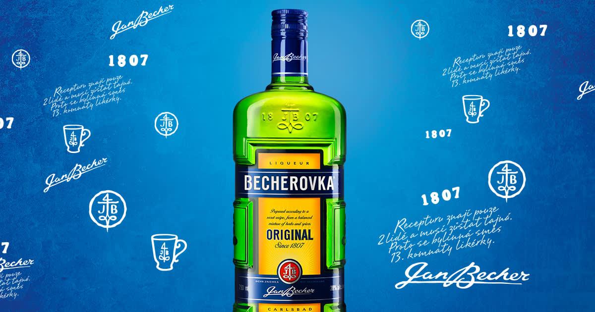 捷克「養命酒」Becherovka。(照片來源: Becherovka官網 https://goo.gl/LZKvqx)