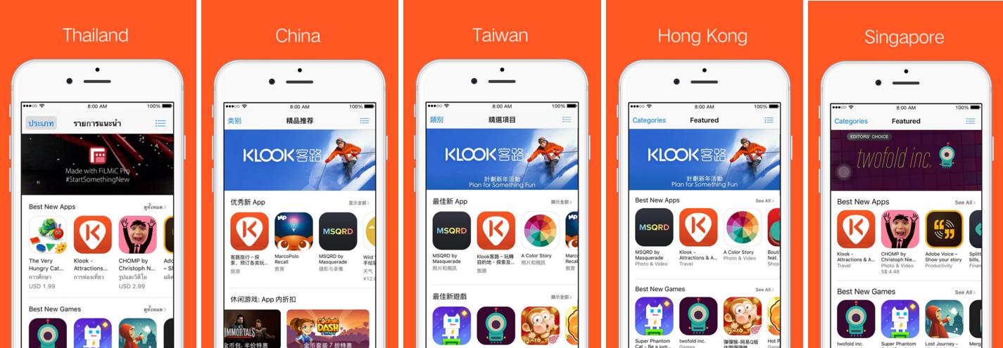 Klook Apple Best New Apps across Asia