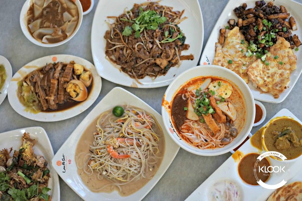 Lau Pa Sat assortment of food