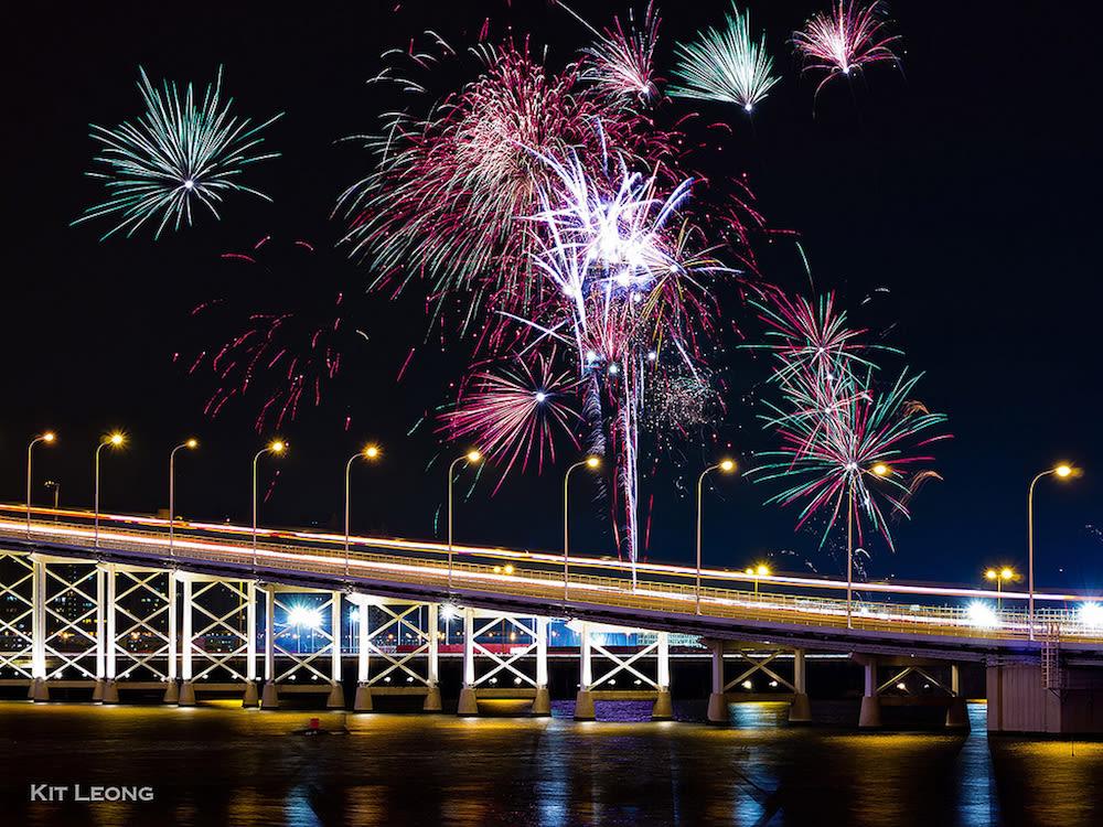 Macau Bridge Fireworks