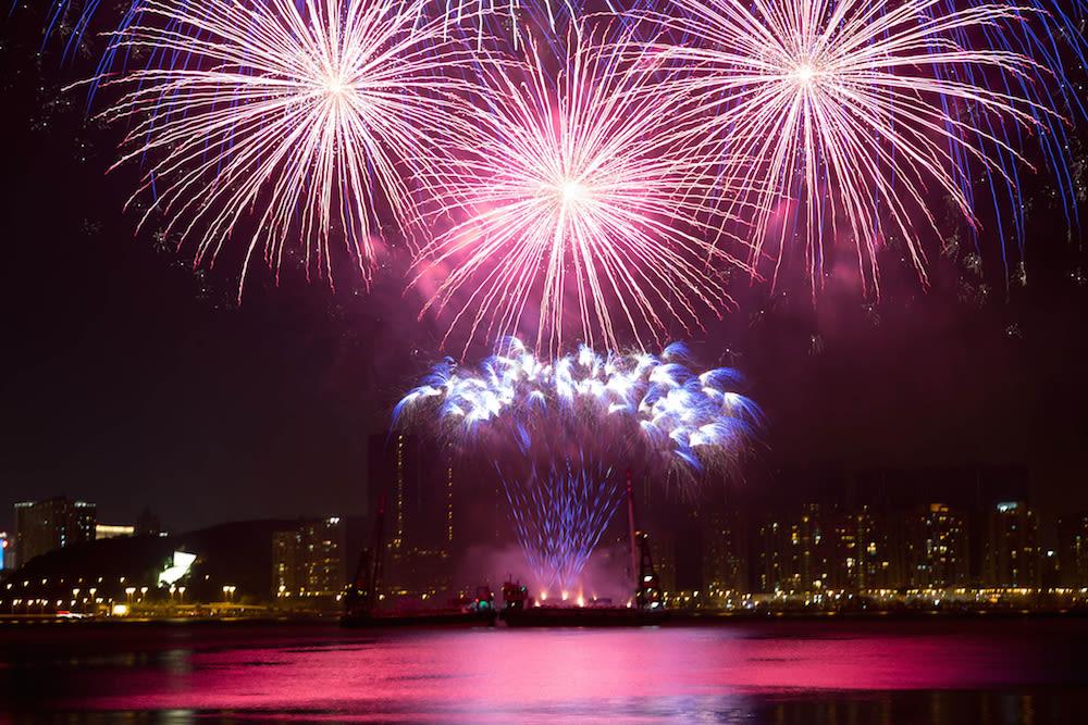 Macau Fireworks Contest from Macau Tower