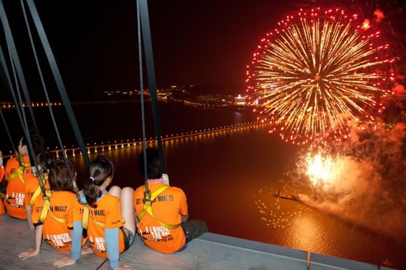 Skywalk Macau Fireworks