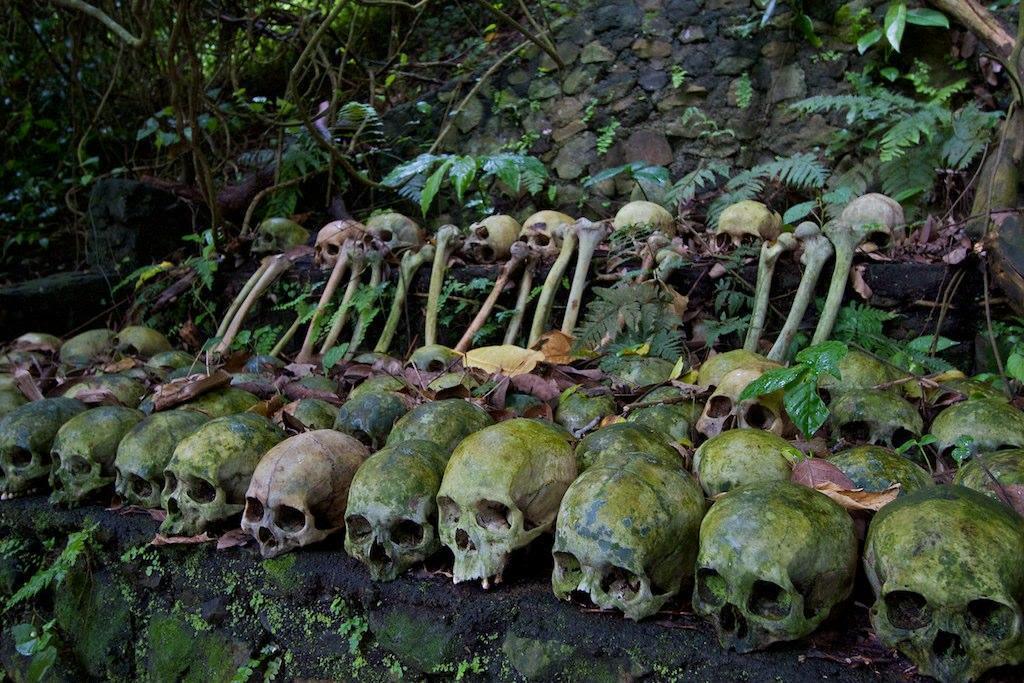 Rows of skulls at Trinyan Village