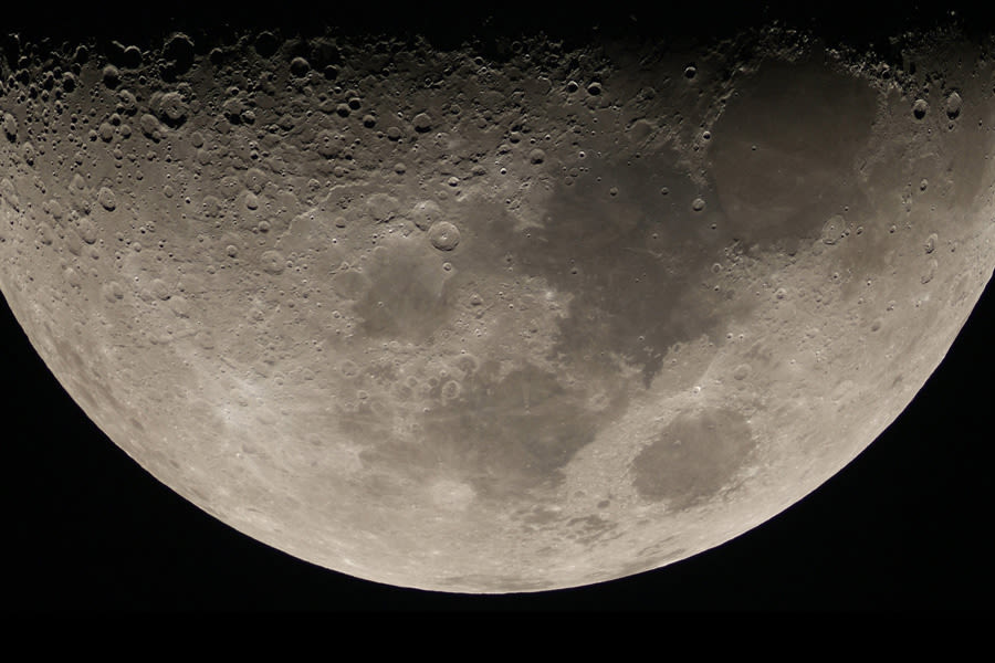 View of the moon from the Sapporo City Astronomical Observatory